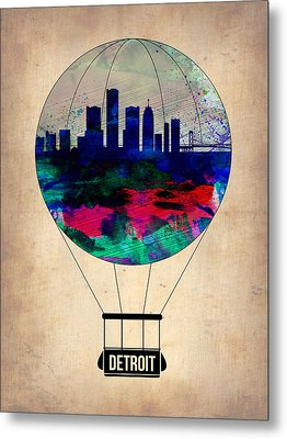 Detroit Air Balloon Metal Print by Naxart Studio
