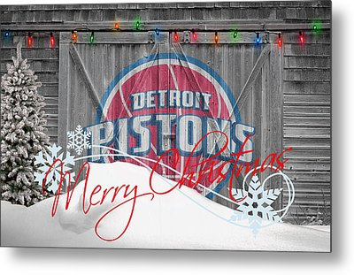 Detroit Pistons Metal Print by Joe Hamilton