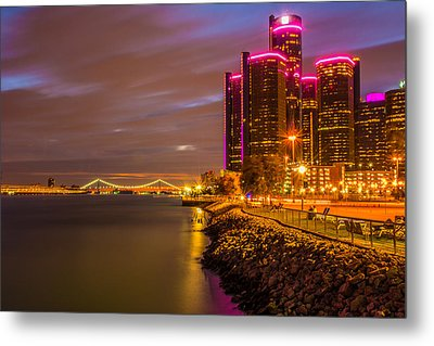 Detroit Riverwalk Metal Print