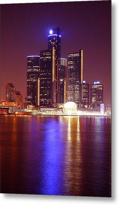 Detroit Skyline 5 Metal Print by Gordon Dean II