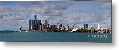 Detroit Skyline Metal Print by Twenty Two North Photography