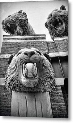 Detroit Tigers Comerica Park Tiger Statues Metal Print