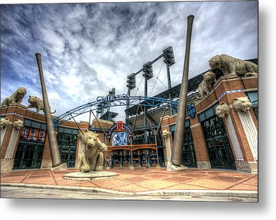 Metal Print featuring the photograph Detroit Tigers Stadium Entrance by Shawn Everhart