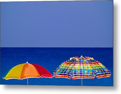 Deuce Umbrellas Metal Print