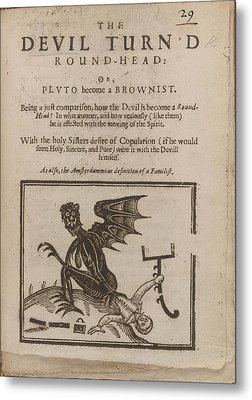 Devil Turn'd Round-head Metal Print by British Library