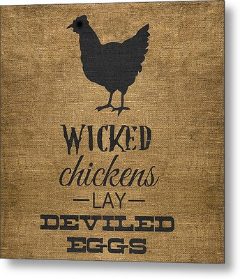 Deviled Eggs Metal Print