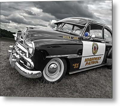 Devils Lake Highway Patrol - '51 Chevy Metal Print