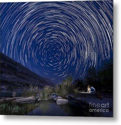 Devils River Star Trails Metal Print