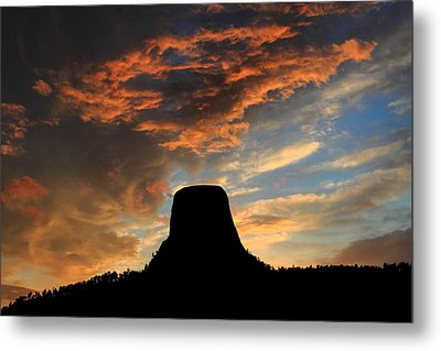 Devil's Tower Sunset Metal Print