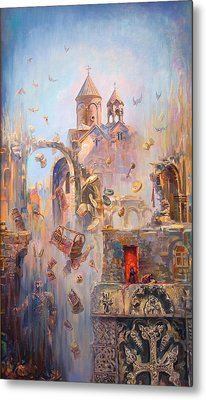 Devoted To The Saint Memory Of The Victims Of Armenian Genocide Metal Print by Meruzhan Khachatryan