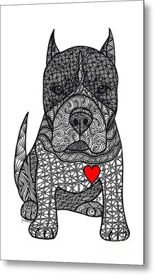 Devotion- American Pitbull Terrier Metal Print