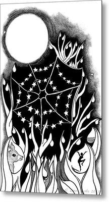 Metal Print featuring the digital art Dewdrop Stars by Carol Jacobs