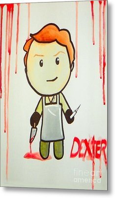 Metal Print featuring the painting Dexter by Marisela Mungia