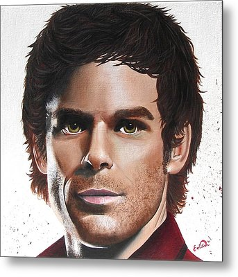 Metal Print featuring the painting Dexter by Oddball Art Co by Lizzy Love