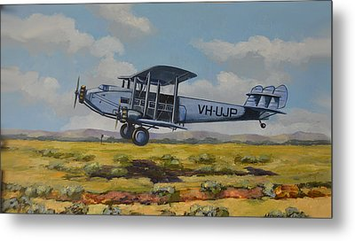 Metal Print featuring the painting Dh Hercules 1929 by Murray McLeod
