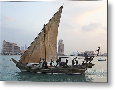 Dhow And Hotels Metal Print by Paul Cowan