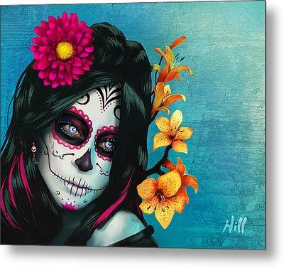 Dia De Los Muertos - Margarita - 10th Anniversary Edition Metal Print by Kevin Hill