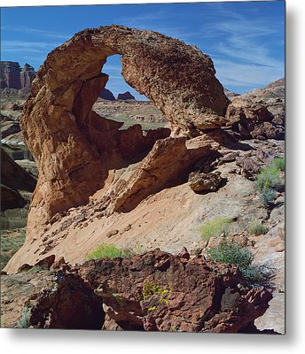 Diagenetic Arch-sq Metal Print