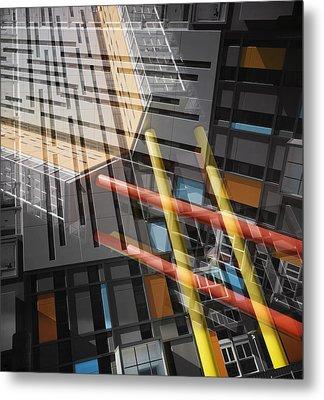 Diagonal Mondrian Metal Print