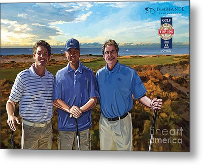 Metal Print featuring the painting Diamante Golf by Tim Gilliland