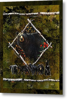 Diamond Bear Metal Print