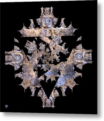 Diamond Crusted Metal Print by Jim Pavelle