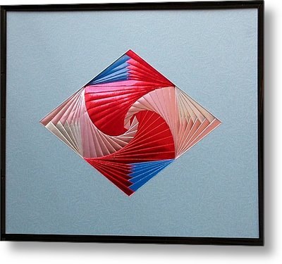 Metal Print featuring the mixed media Diamond Design by Ron Davidson