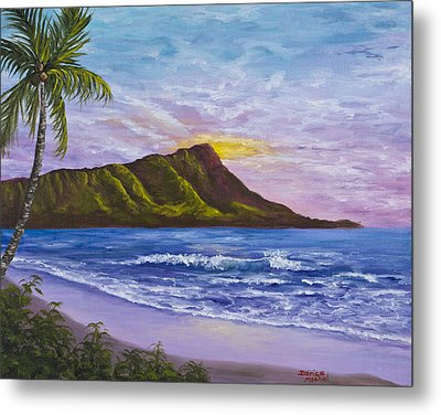 Diamond Head Metal Print by Darice Machel McGuire