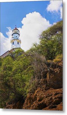 Diamond Head Lighthouse - Oahu Hawaii Metal Print by Brian Harig