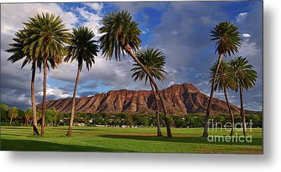 Diamond Head State Monument Before Sunset Metal Print by Aloha Art