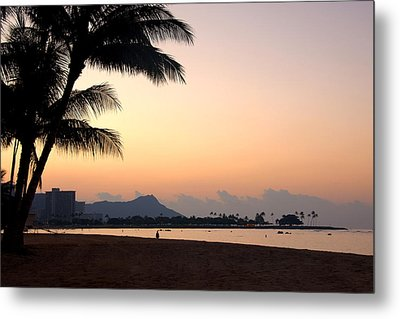 Diamond Head Sunrise - Honolulu Hawaii Metal Print by Brian Harig