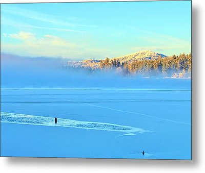 Diamond Lake Frozen Metal Print