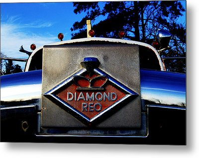Diamond Reo Hood Ornament Metal Print by Bartz Johnson