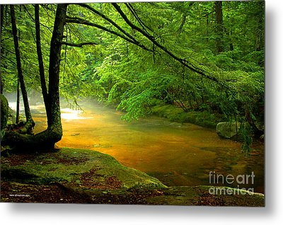 Metal Print featuring the photograph Diana's Bath Stream by Alana Ranney