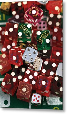 Dice Metal Print by John Rizzuto