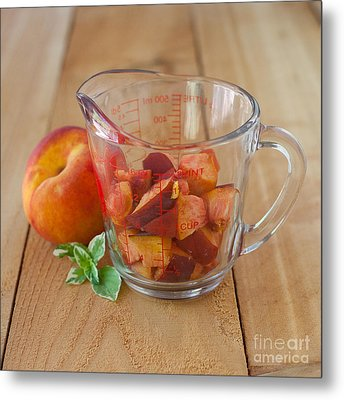 Diced Peaches Metal Print by Kay Pickens