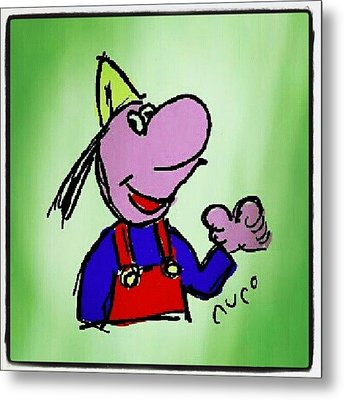 #dicentim #cartoon #caricatures #sketch Metal Print by Nuno Marques
