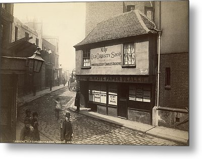 Dickens� Old Curiousity Shop Metal Print by Underwood Archives