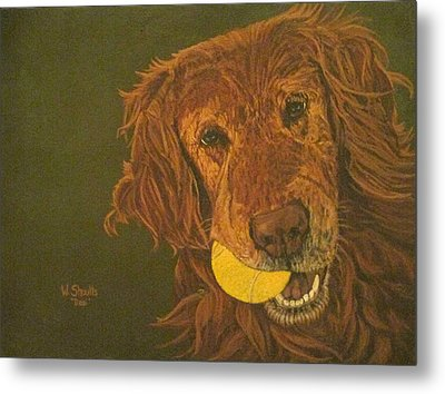 Metal Print featuring the painting Did Somebody Say Ball? by Wendy Shoults