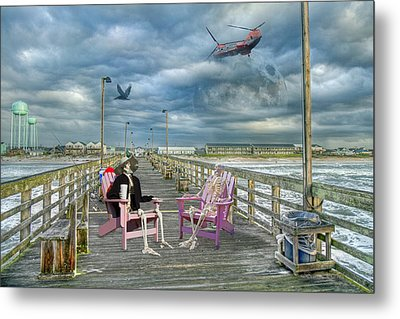 Die Hard Fishermen Metal Print by Betsy Knapp