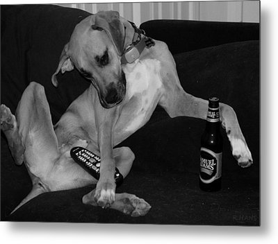 Diesel In Black And White Metal Print by Rob Hans