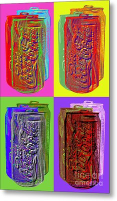 Diet Coke - Coca Cola Metal Print by Jean luc Comperat