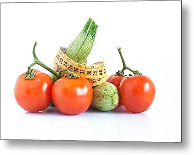 Diet Ingredients Metal Print by Antonio Scarpi