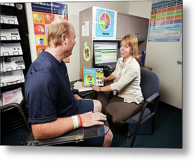 Dietician And Stroke Patient Metal Print by Stephen Ausmus/us Department Of Agriculture