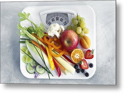 Dieting, Conceptual Image Metal Print by Science Photo Library