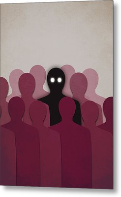 Different And Alone In Crowd Metal Print