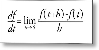 Differential Calculus Equation Metal Print by Science Photo Library