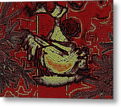 Digital Abstract Metal Print by HollyWood Creation By linda zanini