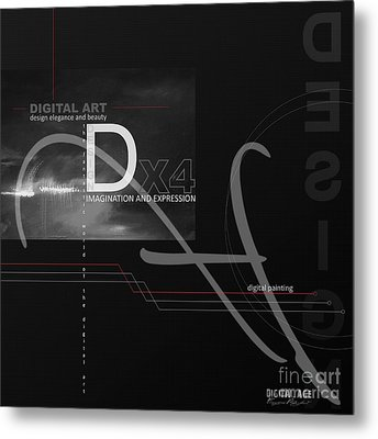 Digital Age X4 Metal Print by Franziskus Pfleghart