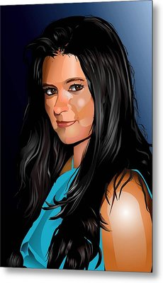 Digital Danica  Metal Print